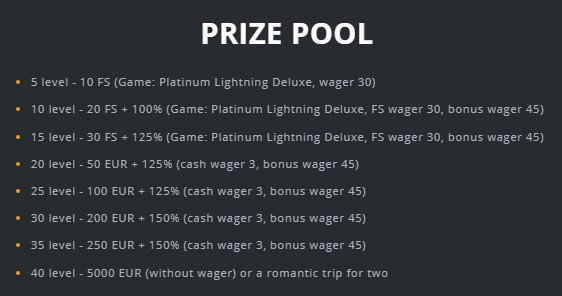 ilucki island of love prize pool