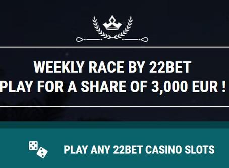 Weekly Slot Race on 22BET