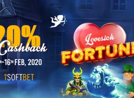Valentine's Day Slots Cashback on Fortunejack