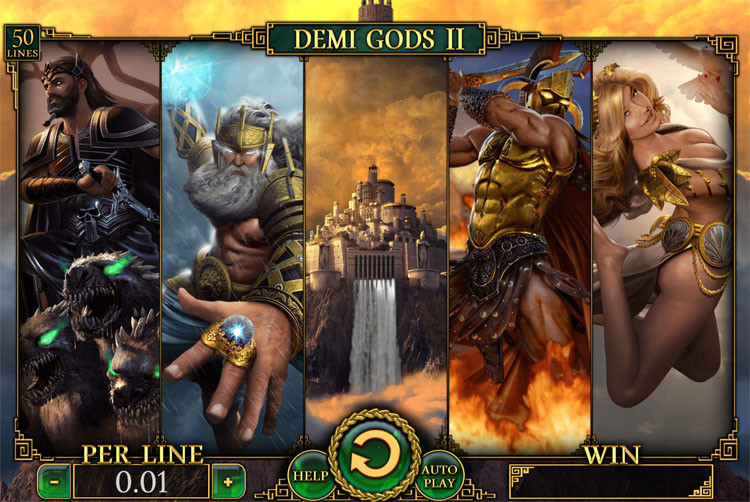 Bonus is playable on Demi Gods II or other selected slots
