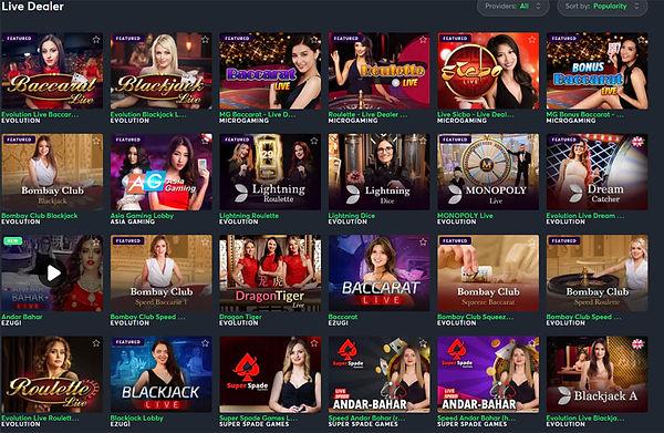 Sportsbet Live Casino