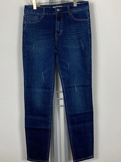 Super Sale - Karo Star Jeans - leichter Destroyedeffekt