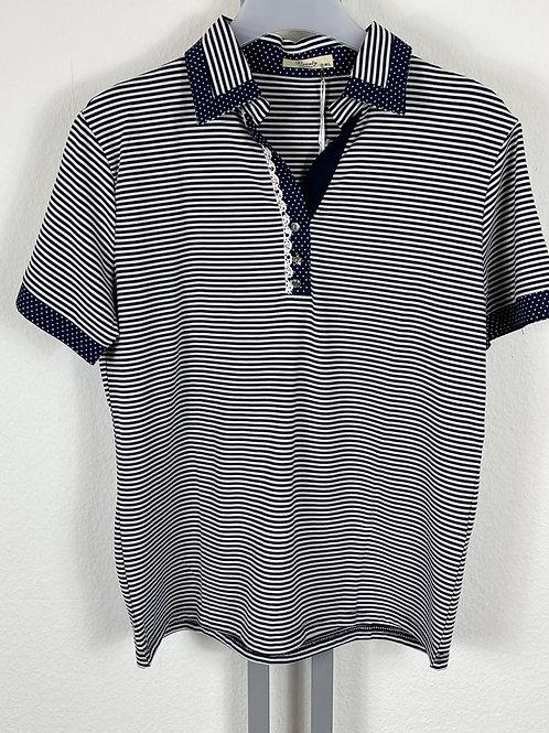 Poloshirt Marineblau gestreift