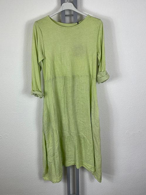 Sommerkleid Leinen und Jersey Lindgrün