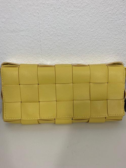 Flechttasche Gelb