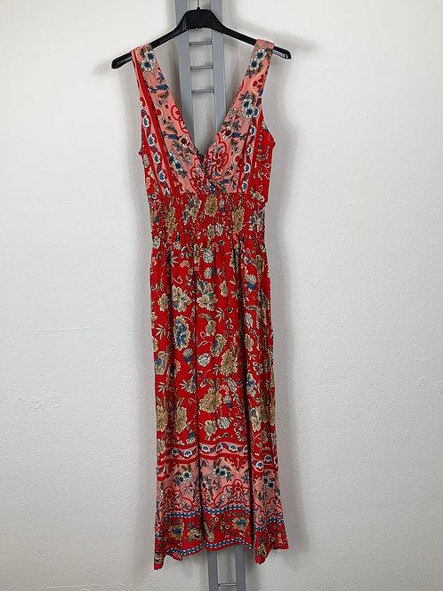 Langes Kleid mit Blumenmuster