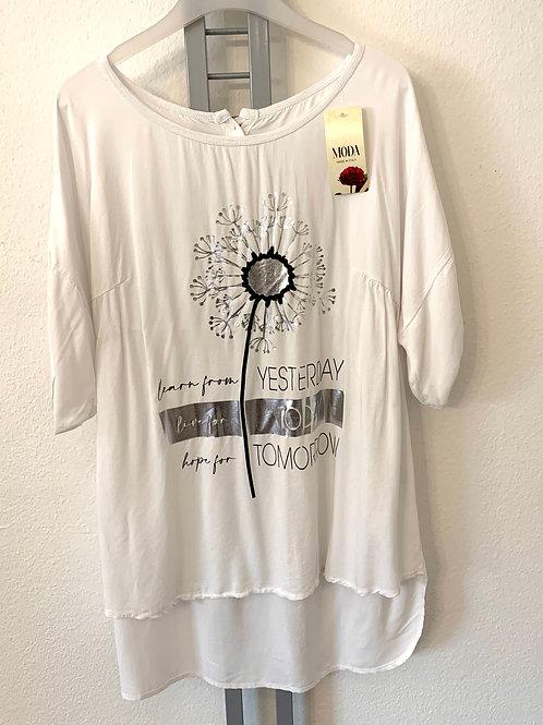 Oversized Bluse / Shirt mit Aufdruck