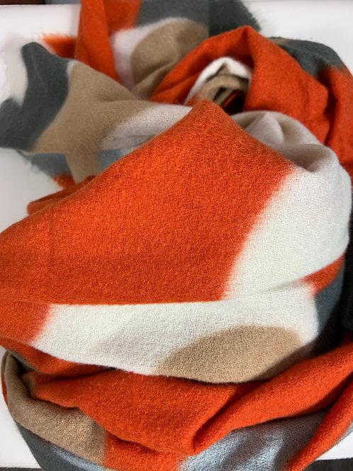 Kuscheliger Schal Orange