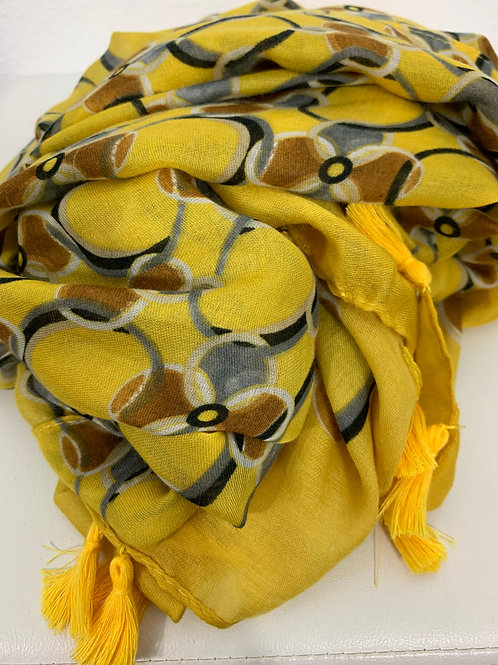 Gelbgemustertes Tuch