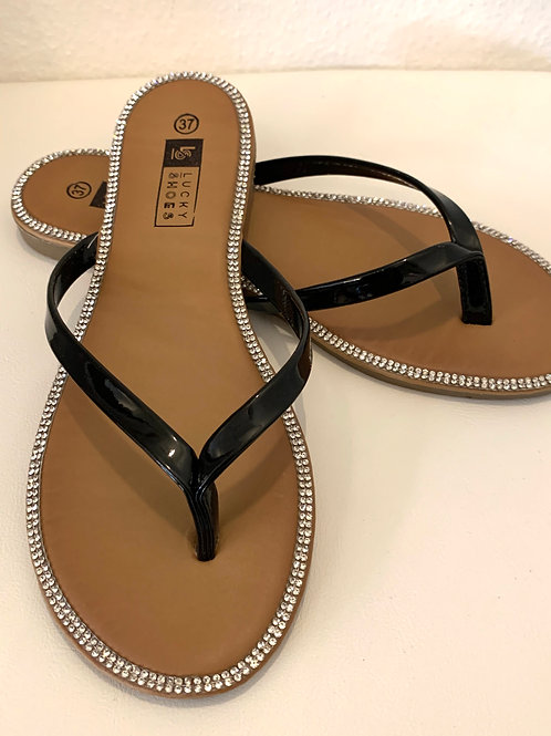 Flip-Flops schwarz Lack