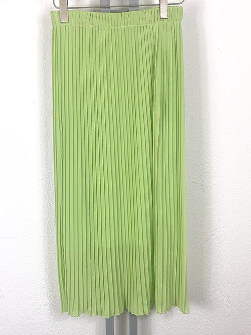 Luftiger Plisseerock hellgrün