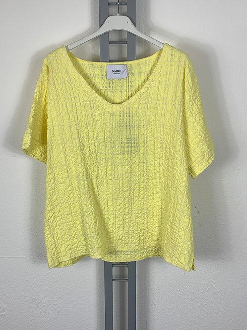Hübsches Baumwollshirt/Bluse gelb
