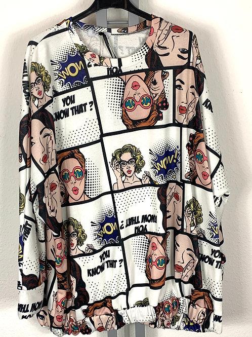 Freaky Sweatshirt mit Aufdruck