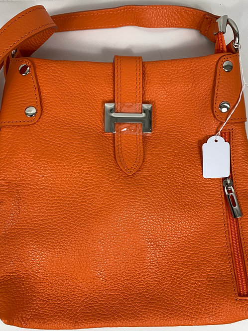 Ledertasche in Orange