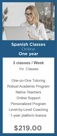 One year - Spanish Classes - Modern Lang