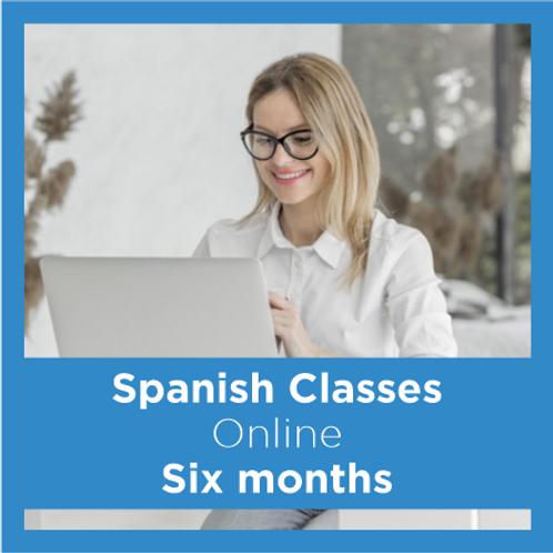 Online Spanish Classes - Six Months