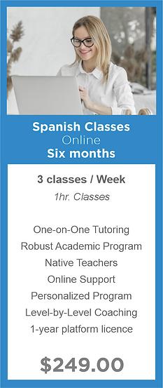 Six months - Spanish Classes - Modern La