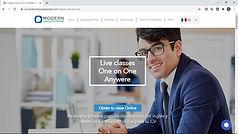 Modern Language Center - Diseño de sitio