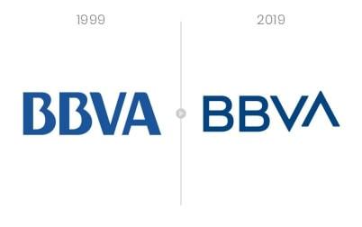 Rediseño de logotipos más destacados de la década - BBVA