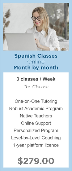Month by month - Spanish Classes - Moder