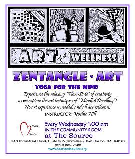 Art for Wellness flyer Zentangles rev. 2