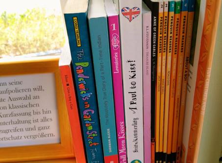 Fensterbank-Feature: englischsprachige Schullektüren und Romane