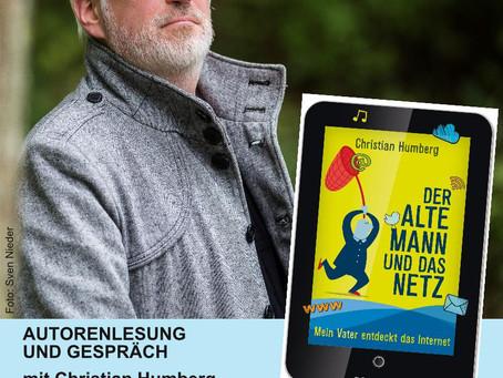Christian Humberg liest in Hunstig:  Anikas Bücherbude präsentiert erste Autorenlesung