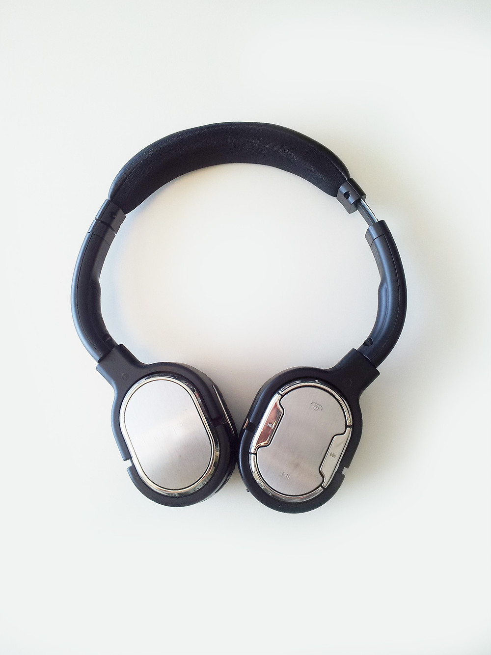 Set of headphones on a white background