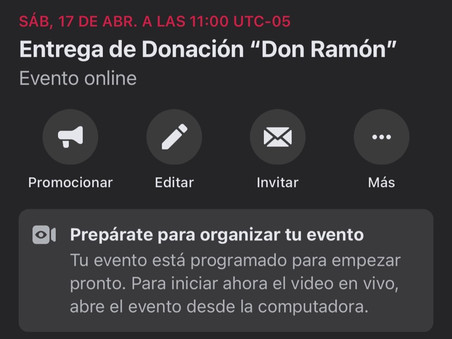 Entrega de Donación Don Ramón