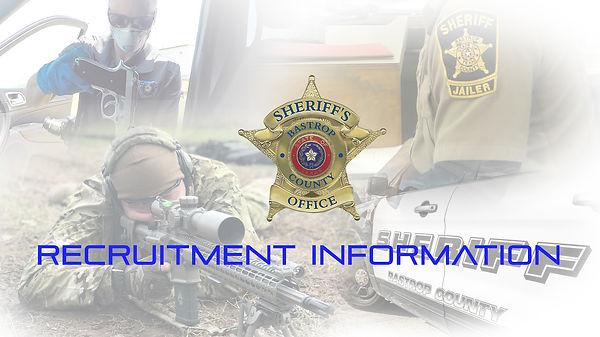 Sheriff's Department Recruitment Infomer