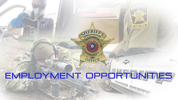 Sheriff's Department Employment Opportun