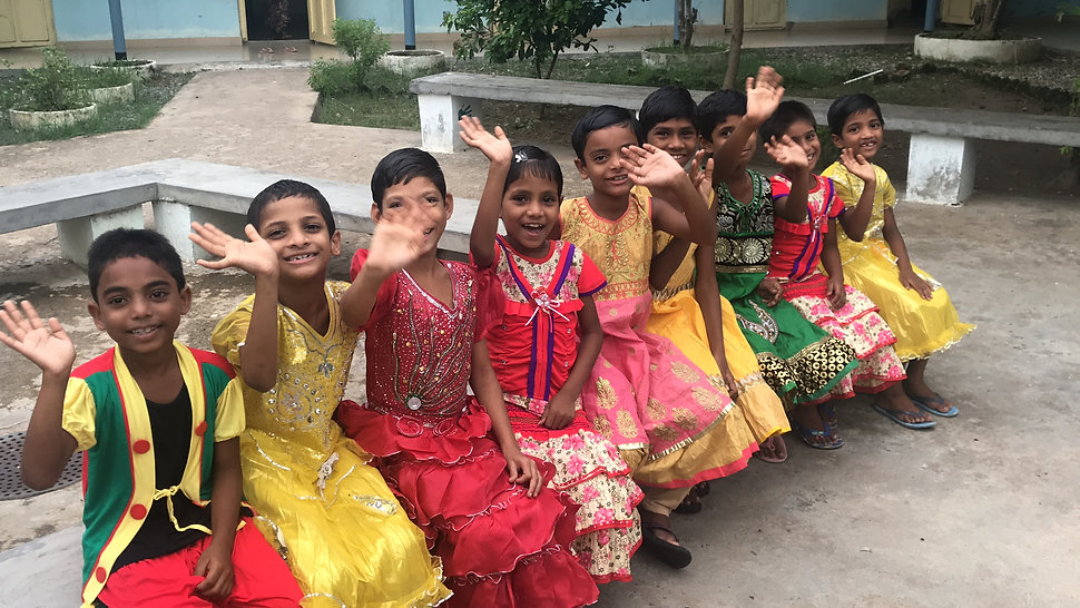 Students in India at Child Impact Intenational