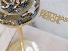 Cigar buds in an ashtray in Venice.