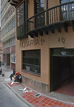 Notaría 1 en Bogotá