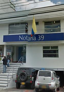 Notaría 39 de Bogotá