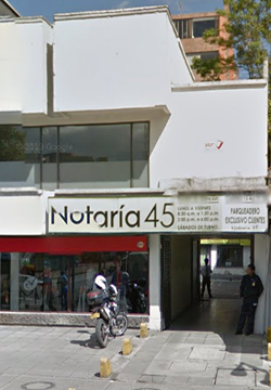 Notaría 45 de Bogotá