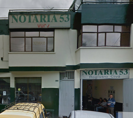 Notaría 53 de Bogotá