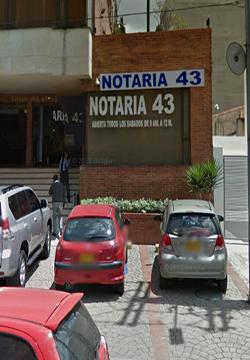 Notaría 43 de Bogotá