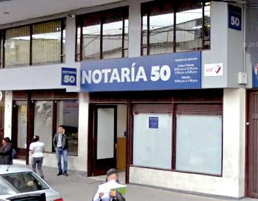 Notaría 50 de Bogotá