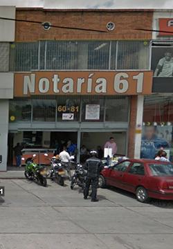 Notaría 61 de Bogotá