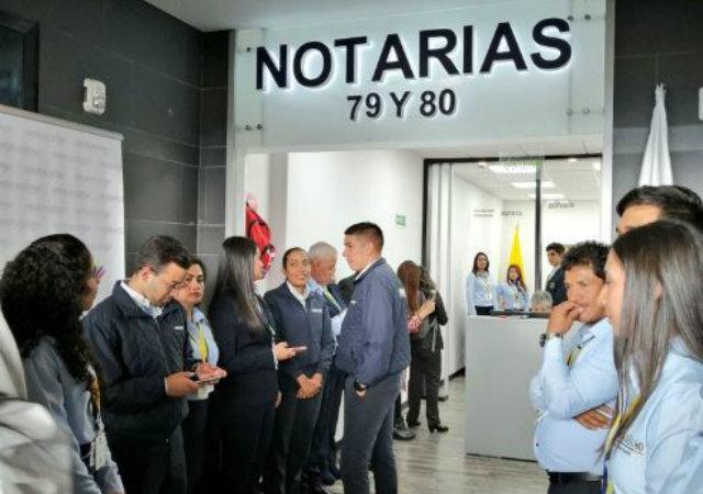 Notarías 79 y 80 de Bogotá