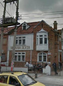 Notaría 6 de Bogotá