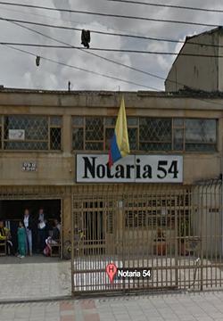 Notaría 54 de Bogotá