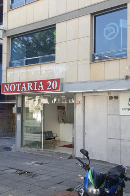 Notaría 20 de Bogotá
