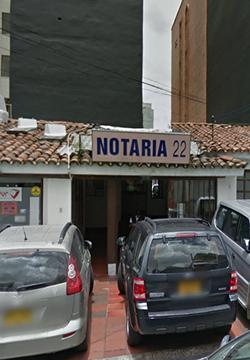 Notaría 22 de Bogotá