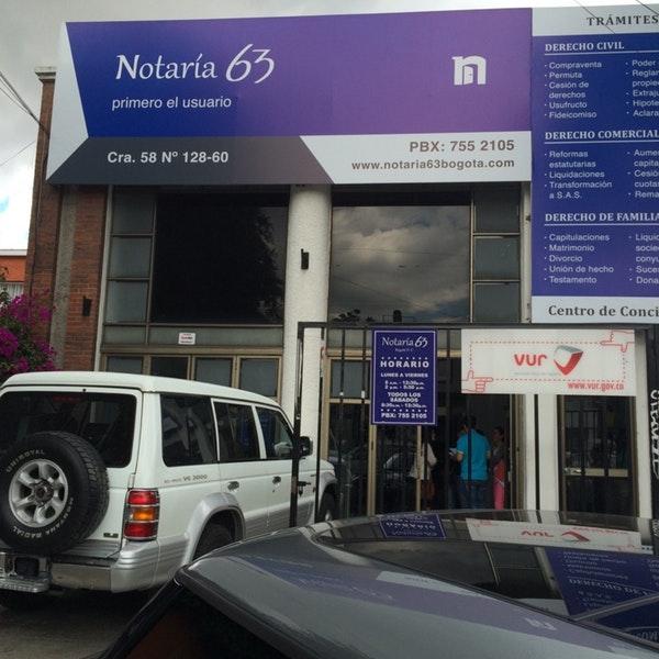 Notaría 63 de Bogotá