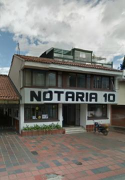 Notaría 10 de Bogotá