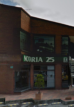 Notaría 25 de Bogotá