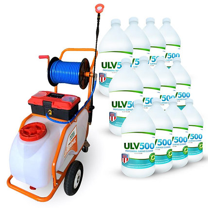 Petratools Battery Powered Push-Cart Sprayer (13 gallon) Professional Cleaning &