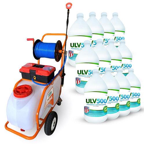 Petratools Battery Powered Push-Cart Sprayer (13 gallon) Professional Cleaning &